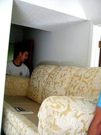 Ben moving the sofa