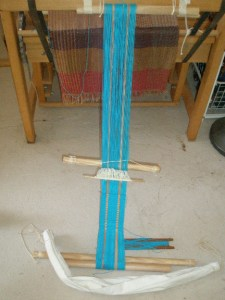 Weaving the backstrap on a backstrap loom