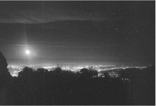 Photo of the moon over San Jose