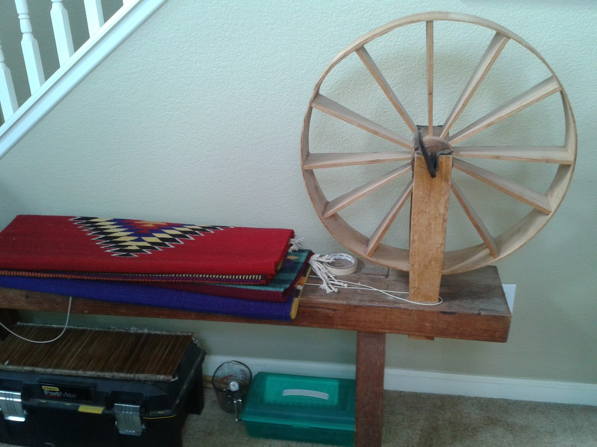 A spinning wheel made by Hipolito