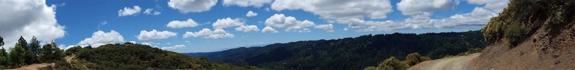 Panorama of Santa Cruz Mountains