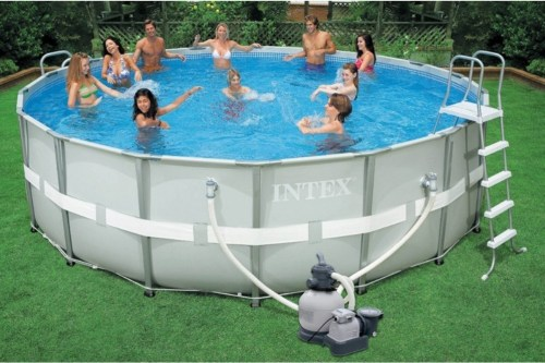intex ultra frame pool review best above ground pools. Black Bedroom Furniture Sets. Home Design Ideas