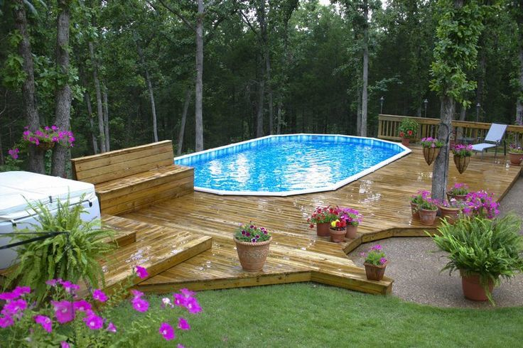Luxury Backyard Swimming Poolsoval Above Ground Pool Deck best above ground pool reviews & supplies