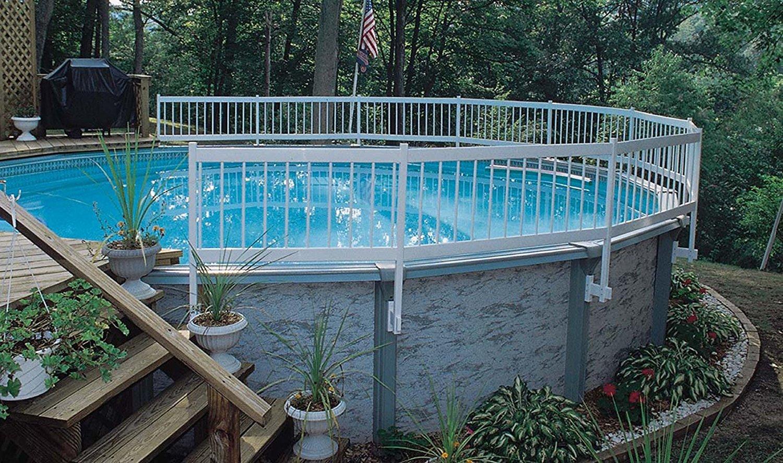 Intex Pool Fence gli above ground pool safety fence base kit | best above ground pools