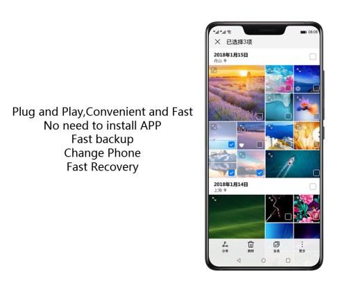 New Huawei Backup Storage Mate 10 20 X Pro P20 Pro Charger 1TB External  Storage