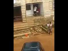WATCH: Boy Engages In Physical Fight With His Father In Abia State Over Feeding Money