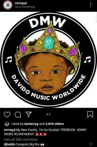 Davido Signs May D Into His Record Label, DMW (Photos)