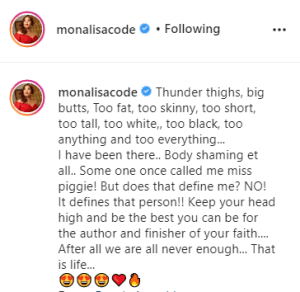 """""""Some One Once Called Me Miss Piggie!"""" – Actress Monalisa Chinda Speaks On Body Shaming"""