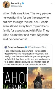 """""""I Am Not Fela, Leave Me Out Of Your Schemes"""" - Burna Boy Warns Omoyele Sowore After Being Invited To #RevolutionNow Protest"""