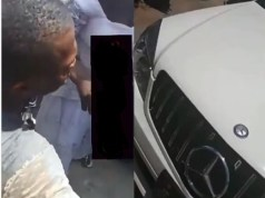 Man Allegedly Runs Mad After Coming Down From His Expensive New Benz In Anambra State (Video)