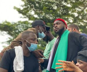 Video: Musician Davido Leads #EndSARS Protest In Abuja