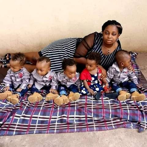 Wow! See Beautiful Photos Of A Keke Driver's Wife And Their Quintuplets