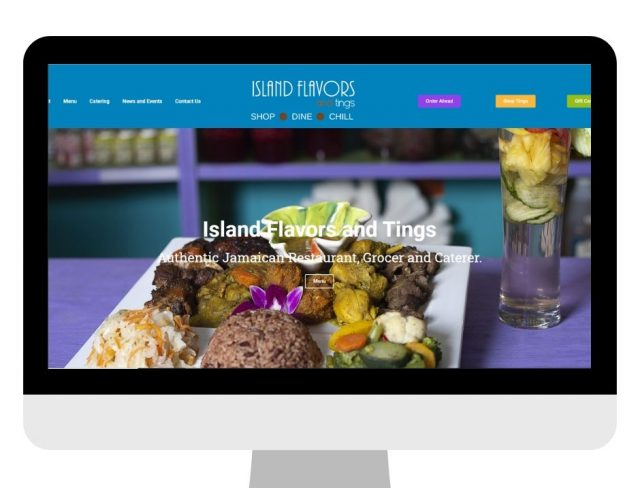 Island Flavors and Tings Website Rebrand Marketing Technology Implementation Project with Above Promotions Tampa FL