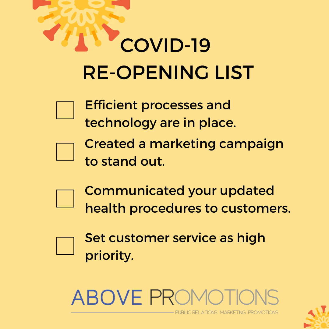 COVID-19 Thrive Not Just Survive Checklist Above Promotions Tampa FL PR Marketing Technology Agency Crisis Communications