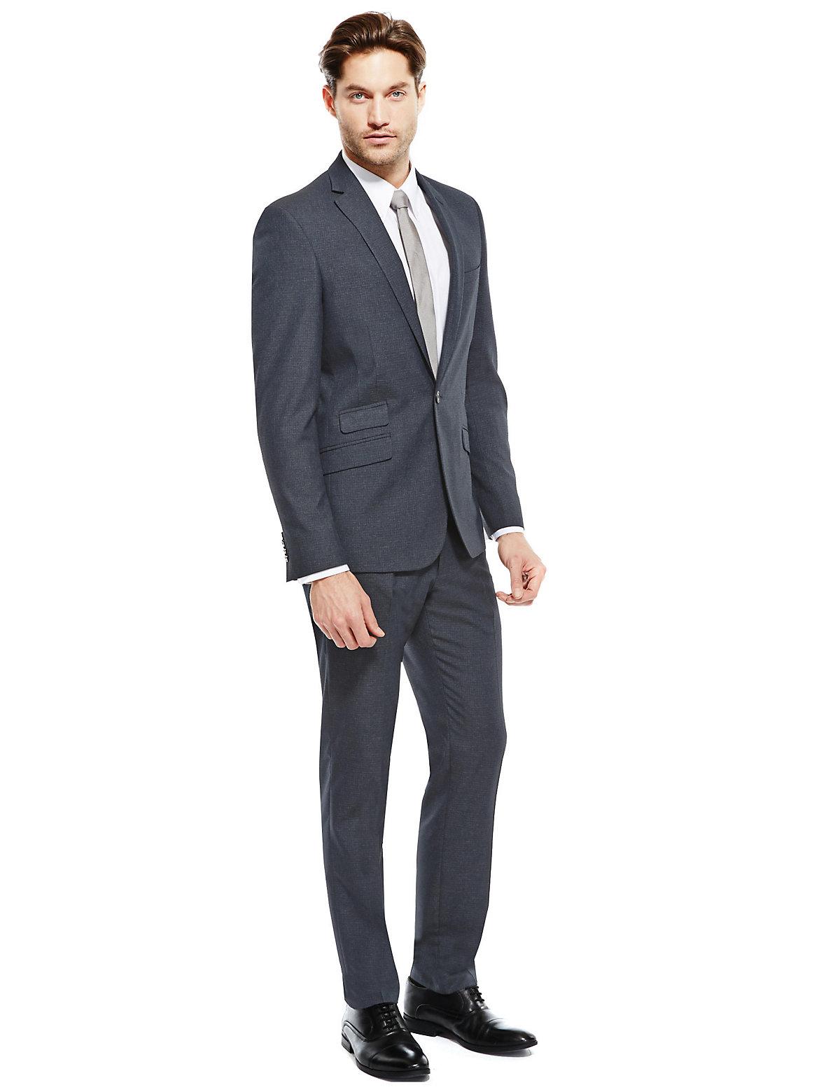 Top Quality M&S Blue Super Slim Fit Suit For £99