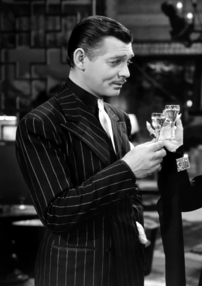 Clark gable in a Pinstripe Suit