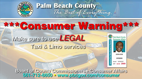 Palm Beach County- Consumer Warning
