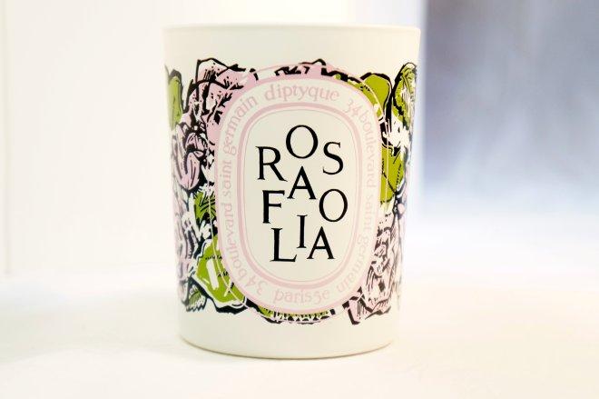 Diptyque Rosafolia candle