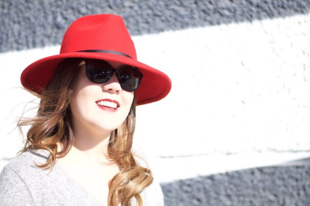 Red Hat and Black Sunglasses
