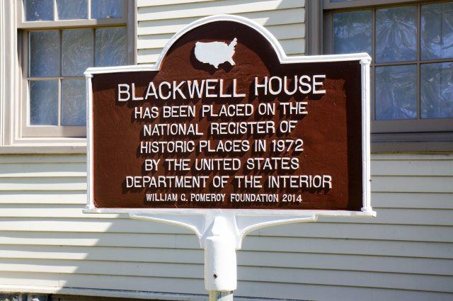 Blackwell House - Sign