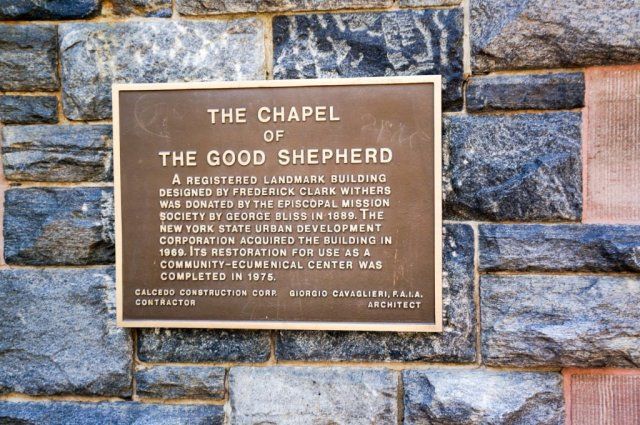 Chapel of Good Shepherd - sign