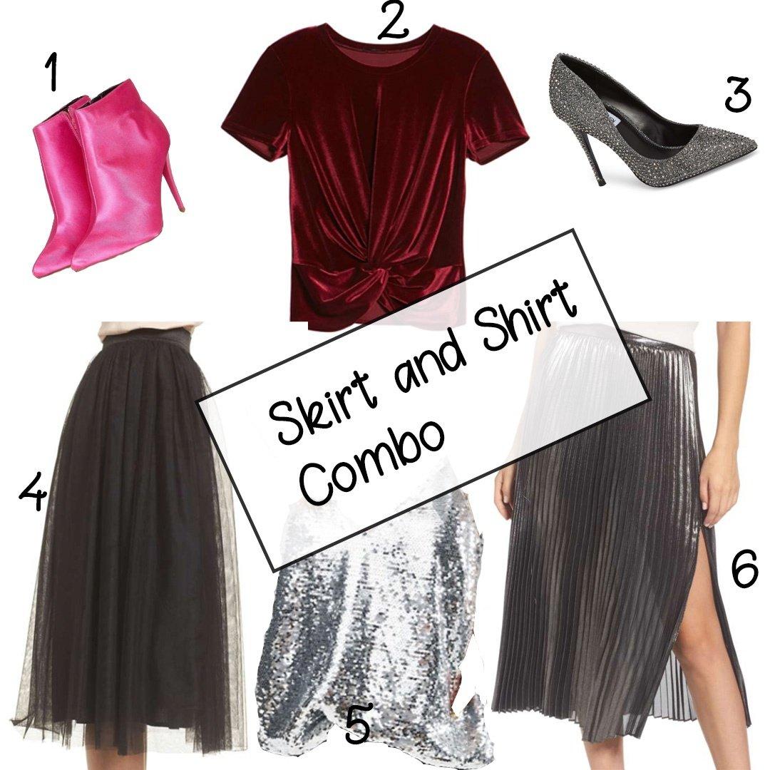 Skirt-and-shirt-combo