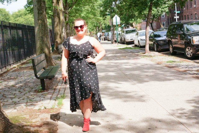 Polka Dot Dress - Red Boots