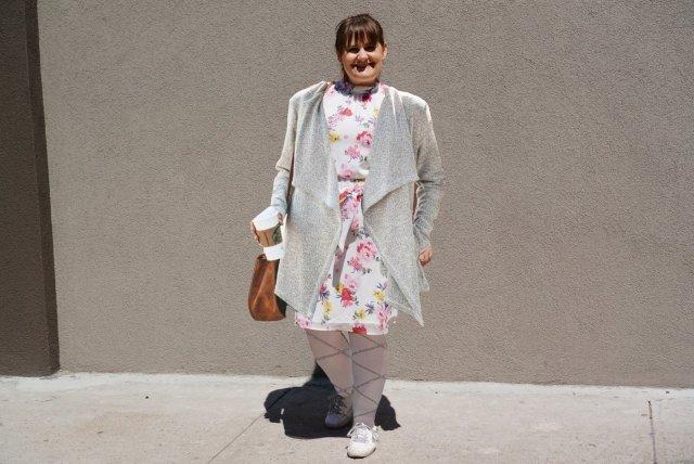 Transition-floral dress