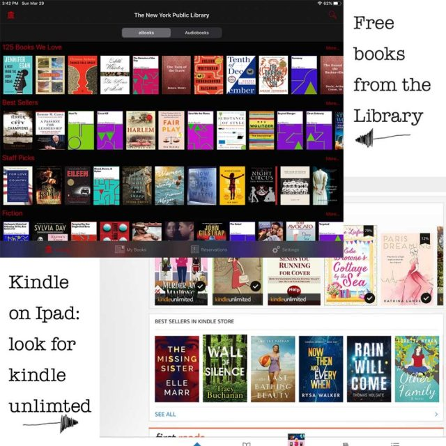 Self-isolation book websites