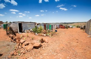 A growing number of whites are living below the poverty line in South Africa - the temporary camp is home to around 300 people