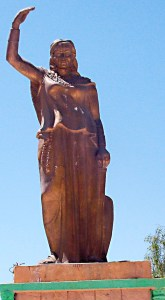 statue of Dyhia in Algeria. Photo: en.wikipedia.org