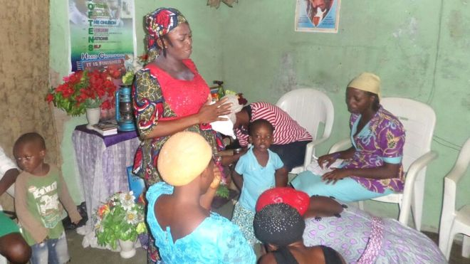Many pregnant women come to see Sister Indoreyin Sambhor, a birth attendant and pastor at the Land of Promise church