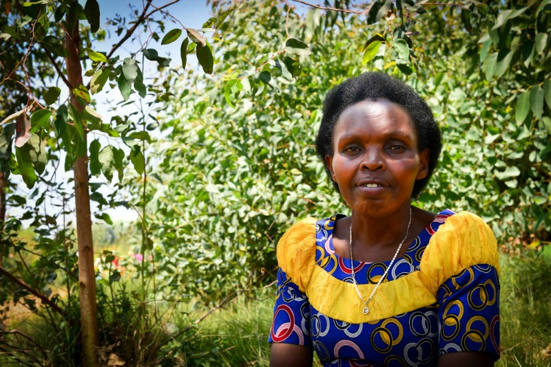 Caritas Mukagatana, Women for Women International - Rwanda graduate. Photo credit: Harriet Tolputt, 2016