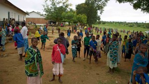 Children at a school in Chimoya where mothers' groups campaigning to end child marriage say parents refuse [Hannah McNeish/Al Jazeera]