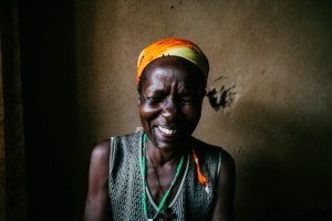 "Bernadette in her home. We made her laugh by saying ""seka!"" (smile) before taking her photo."