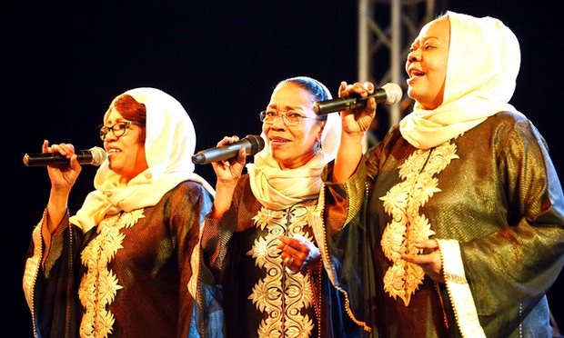 Sisters Amal, Hadia and Hayat Talsam were known in their heyday as the 'Sudanese Supremes' Photograph: Ashraf Shazly/AFP/Getty Images