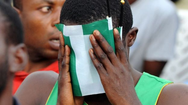 It's a hard life being a Super Eagles fan these days Photo: AFP