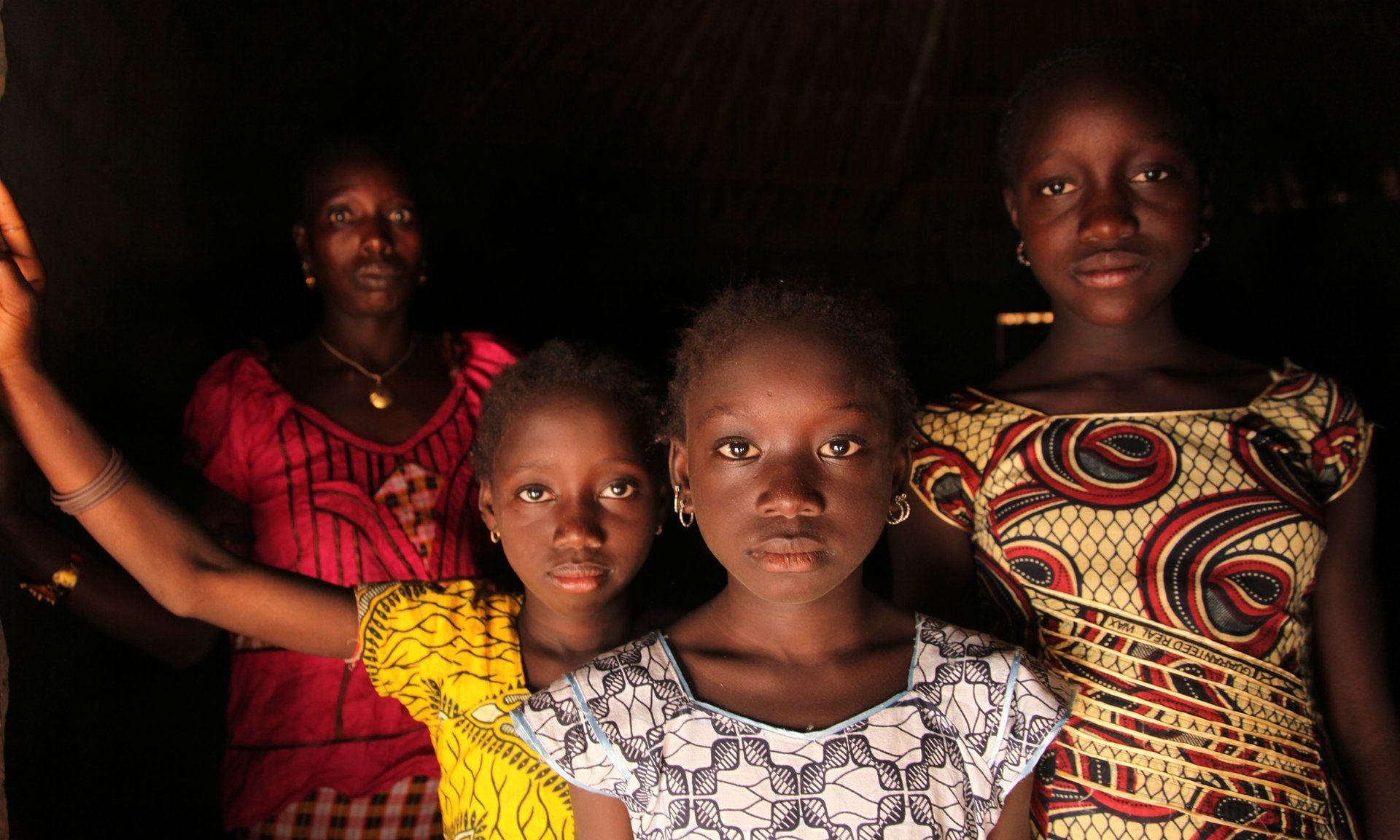 A woman and her daughters in the village of Cambadju in Bafata region, Guinea-Bissau, which has been on the UN's list of least developed countries since 1981. Photograph: Unicef/Lemoyne/EPA