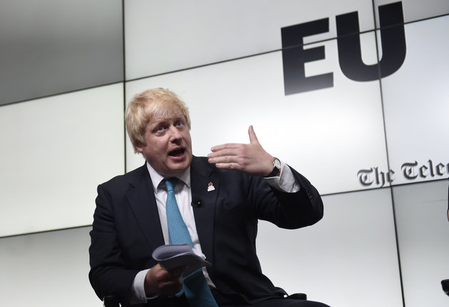 """Former mayor of London and prominent pro-Brexit leader Boris Johnson said immigration has become a hot topic because voters feel they haven't """"given democratic consent to what is happening.""""  Photo:  DAVID ROSE/THE DAILY TELEGRAPH"""
