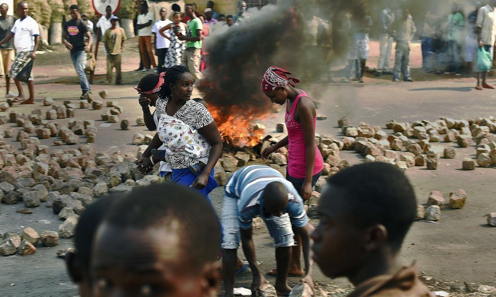 Protests in Burundi's capital, Bujumbura, in July 2015. President Pierre Nkurunziza's bid for a third term last year triggered unrest, a failed coup and months of terror. Photograph: Carl de Souza/AFP/Getty Images