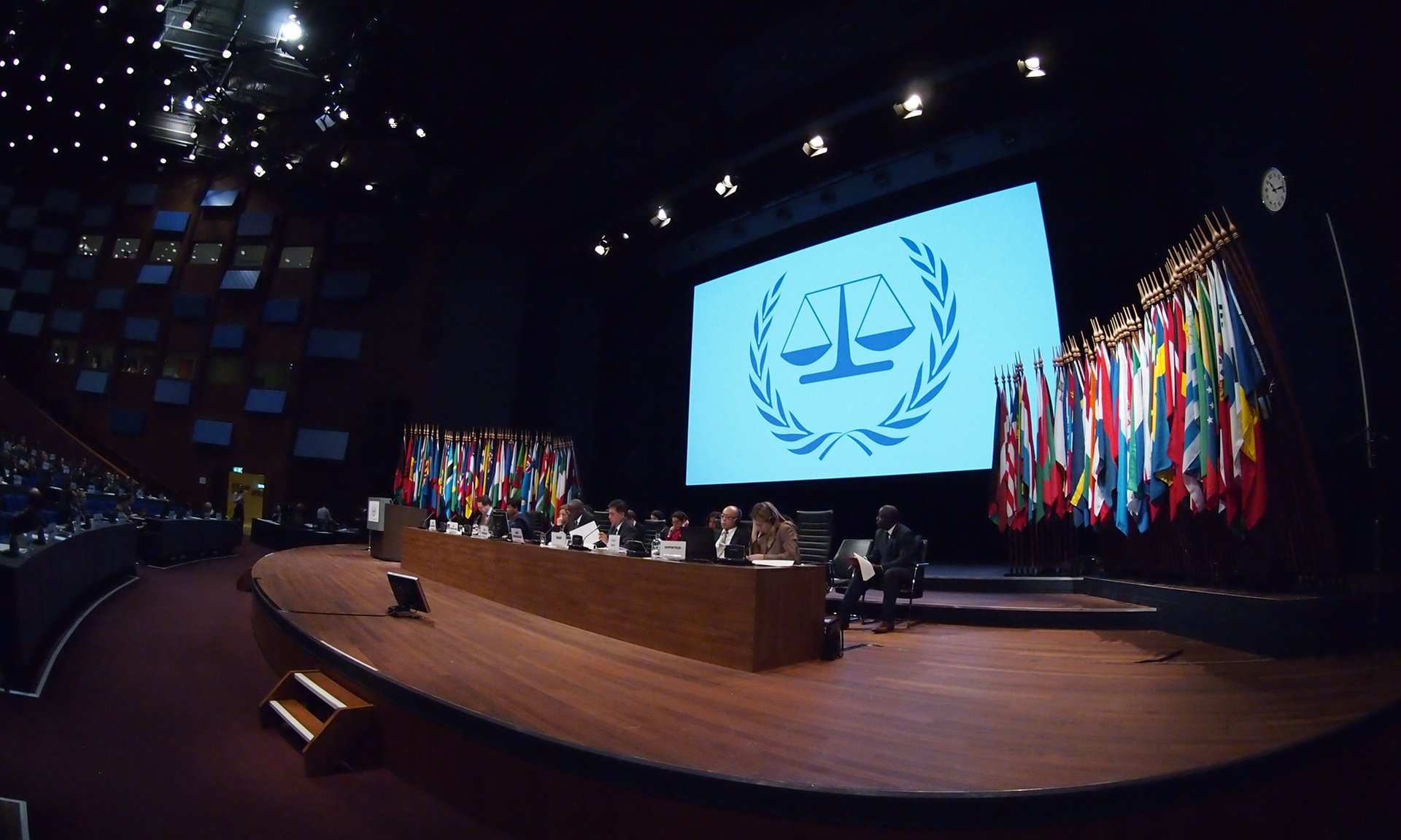 The international criminal court presents its annual report to the Assembly of State Parties to the Rome Statute, in The Hague. Photograph: Yoshihiro Ikeda/Courtesy of ICC
