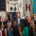 Britain's Prince Harry poses for a picture at the 2016 International AIDS Conference in Durban on July 21, 2016. MATTHEW KAY/AFP - See more at: http://www.gmanetwork.com/news/story/574627/lifestyle/healthandwellness/prince-harry-and-elton-john-speak-out-at-aids-summit#sthash.RaxMuglC.dpuf