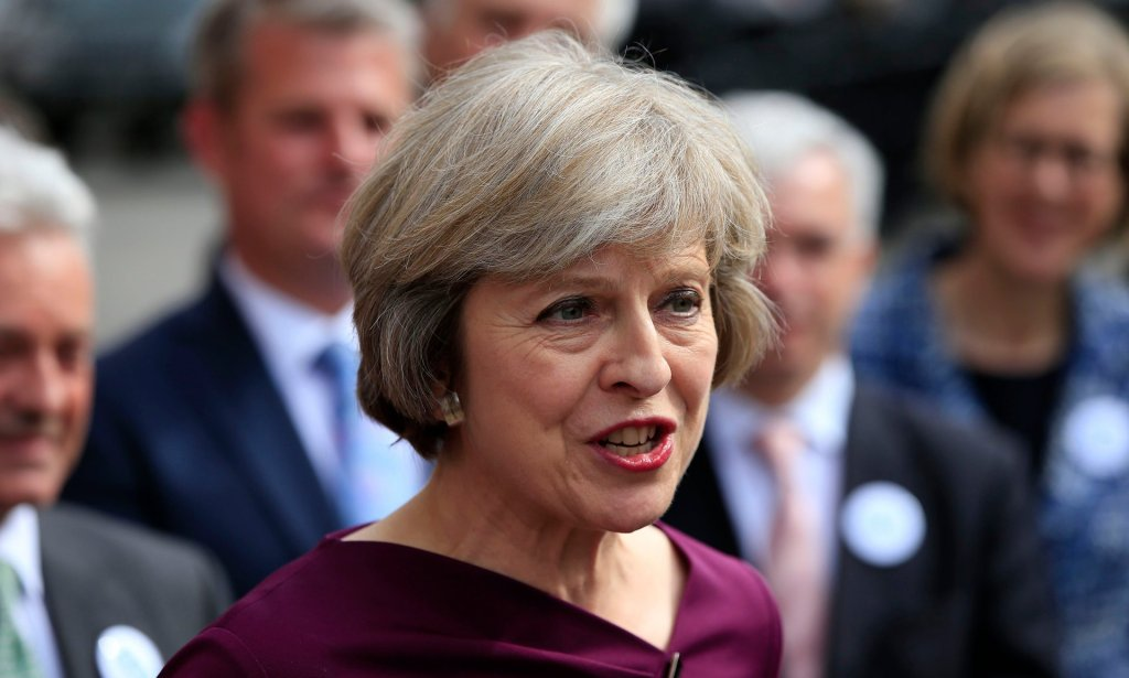 Home secretary Theresa May:'She is so obviously cast as the nation's nanny. She will be tough but fair.' Photograph: Jonathan Brady/PA