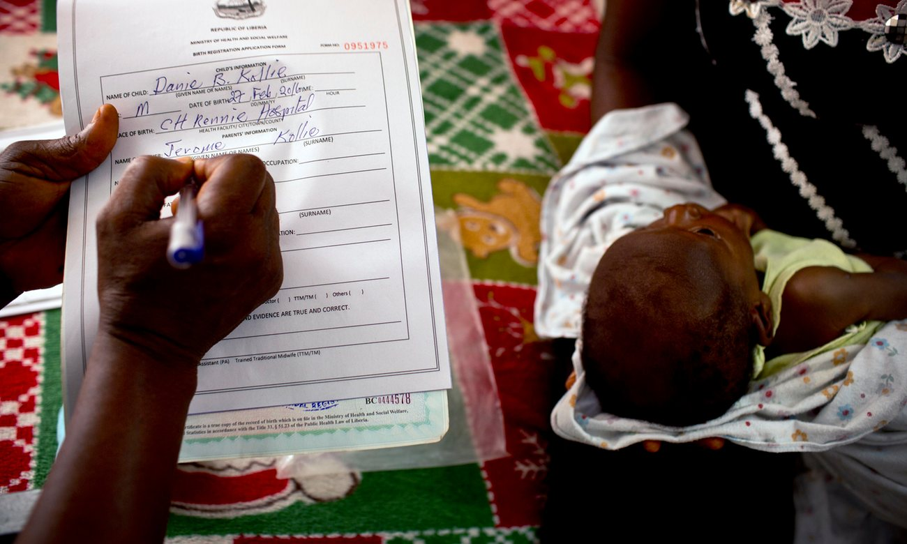 Birth certificate a vital document many liberians have never a registrar takes details in order to register a babys birth at the kakata rennie hospital aiddatafo Image collections