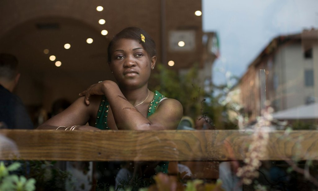 An estimated 30,000 Nigerian women have been trafficked into prostitution. Photograph: Quintina Valero/Observer