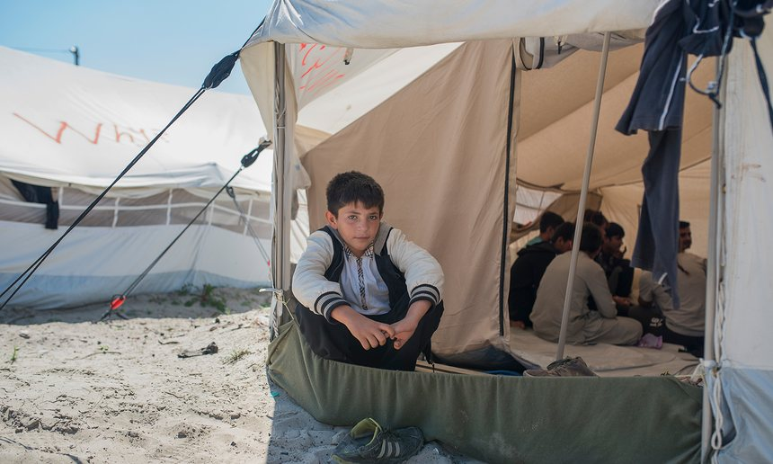 Mohammed says: 'One day I wanted to get on a lorry, they put spray in my eyes; I was blinded and crying for one or two hours.' Photograph: Alecsandra Raluca Drăgoi for the Guardian