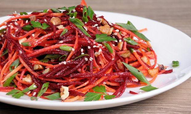 Beetroot salad: don't eat more than two beets a day. Photograph: MarynaVoronova/Getty Images/iStockphoto