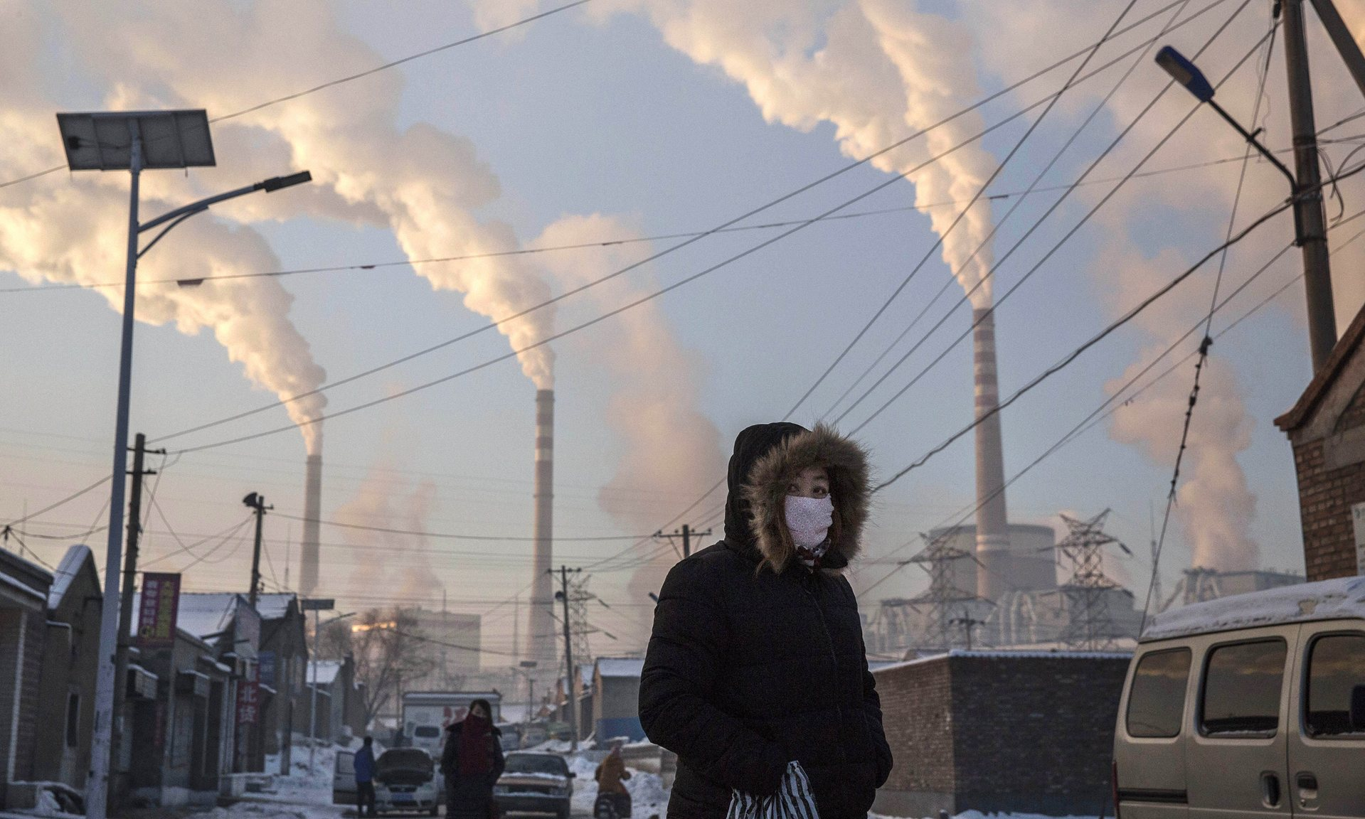 A history of heavy dependence on burning coal for energy has made China the source of nearly a third of the world's total carbon dioxide (CO2) emissions. Photograph: Kevin Frayer/Getty Images
