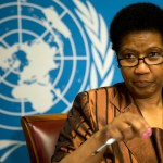 Phumzile Mlambo-Ngcuka, executive director of U.N. Women, reacts to questions during a press conference at the United Nations European headquarters in Geneva, Switzerland, Monday, Jan. 13, 2014. Participants in a two-day conference for Syrian women sponsored by the U.N. and the Netherlands say the upcoming Syrian talks in Geneva must include women's representatives and push for constitutionally guaranteed equality between women and men if there is to be lasting peace. (AP Photo/Anja Niedringhaus)