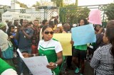Super Falcons Storm NASS In Protest Against Non-Payment Of Allowances